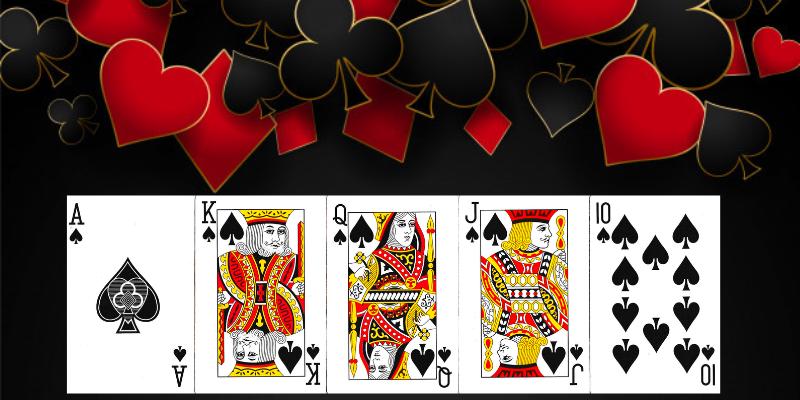 Pokerio kombinacijos lietuviškai - karališka spalva