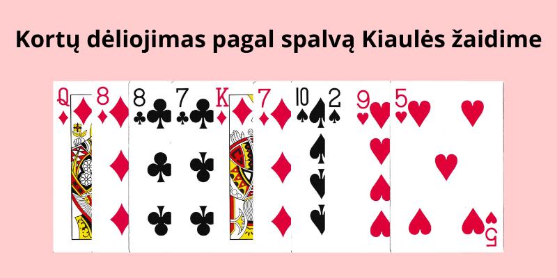 Kortų lošimas dviese ar poromis keturiese - jų pavadinimai