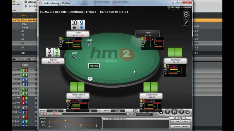 Pokerio pagalbinės programos HM2