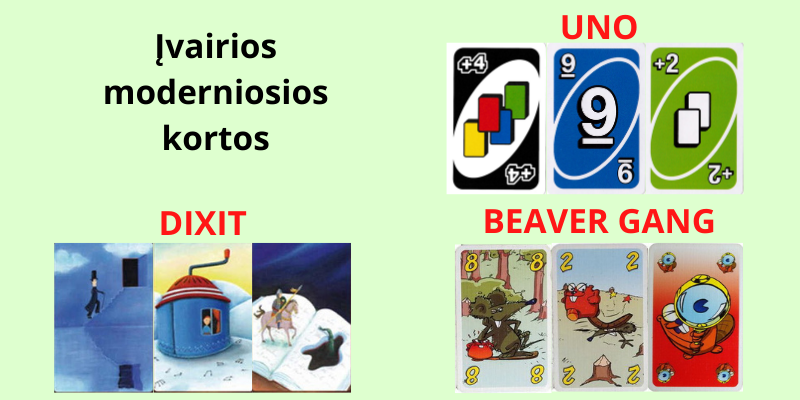 Uno ir kiti kortų žaidimai dviems taisyklės
