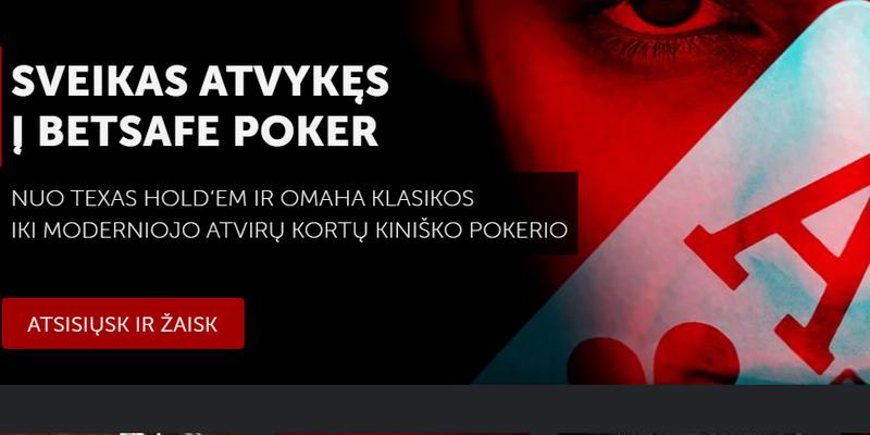Betsafe pokeris online casino - freeroll premijos kodai
