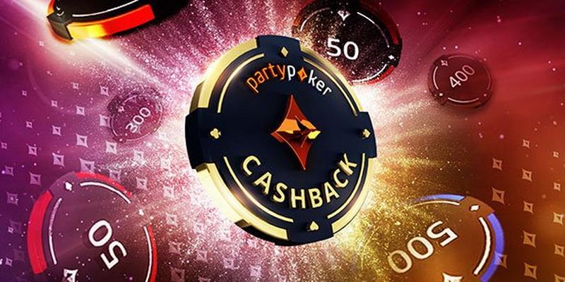 PartyPoker cashback bei premija, kurią gaunate žaisdami